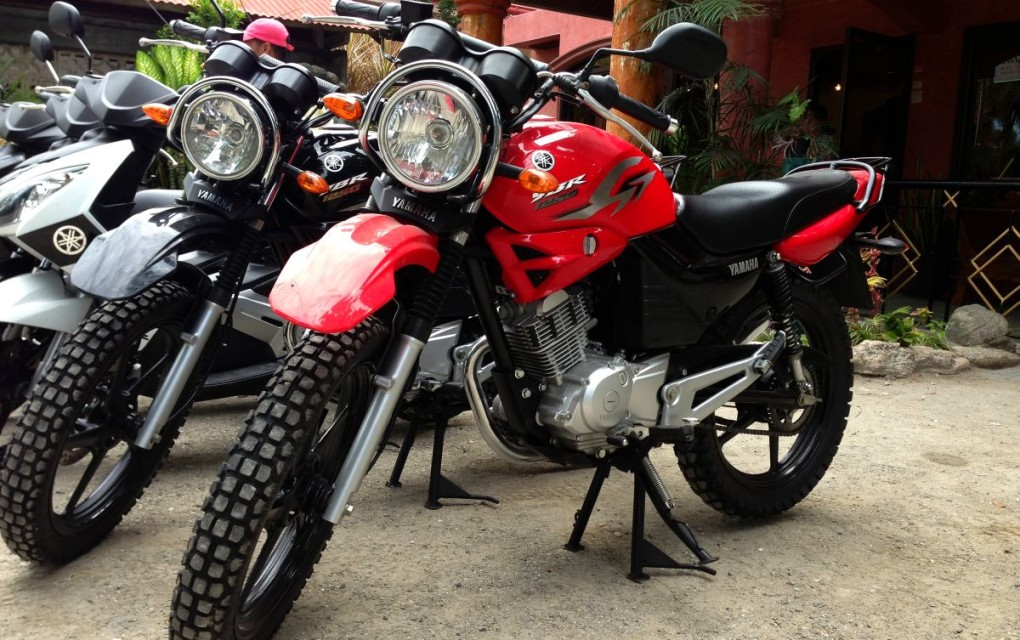 YAMAMA YBR 125CC FOR RENT IN BOHOL 650 php per day