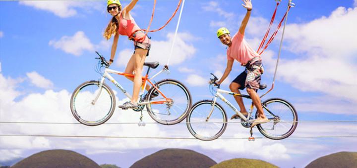 Bike Zipping at Chocolate Hills Adventure Park, Bohol