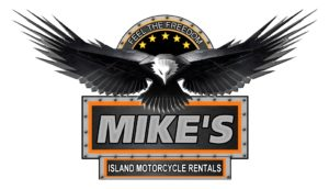 mikes island motorcycle rentals logo